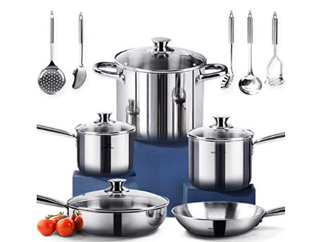 stainless steel cookware sets image
